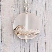 Frosted Sea Pendant Necklace